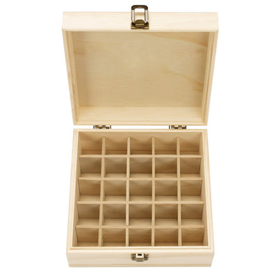Wooden Essential Oil  Storage Box (25 slots)