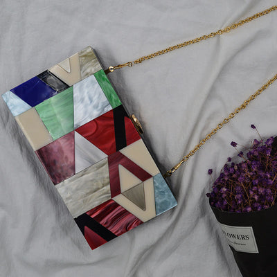 Geometric Patchwork Clutch