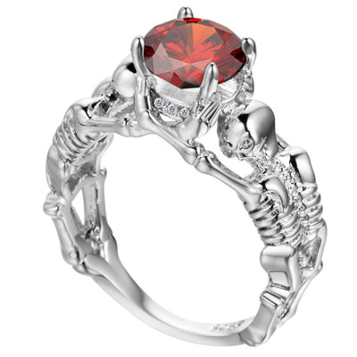 Unisex CZ Skeleton Ring