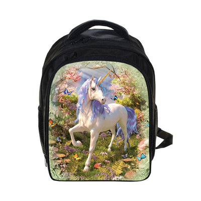 Waterproof Anime Unicorn School Backpack for Girls