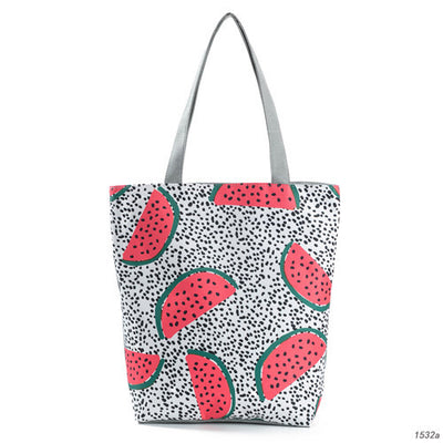 Watermelon Printed Canvas Tote Bag