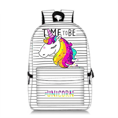 Unicorn Cartoon Printed Backpack