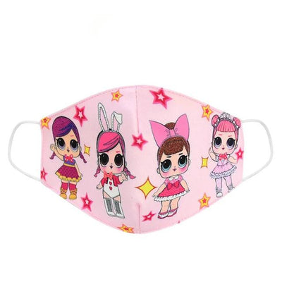 3pcs L.O.L Surprise Fabric Face Mask Set for Kids and Adults