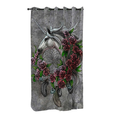 Unicorn Dreamcatcher Curtain for Living Room