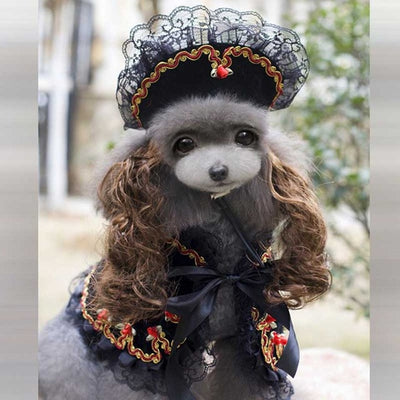 Royal Princess Dog Costume with Hair Hat