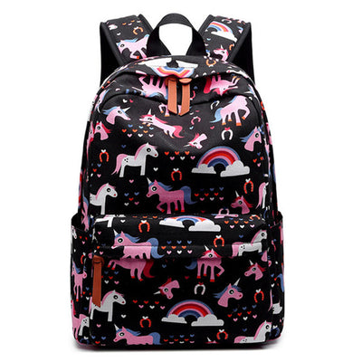Animal Printed Canvas Backpack