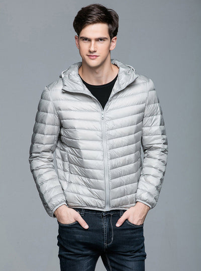 Ultra Light 90% Duck Down Hooded Jackets for Men