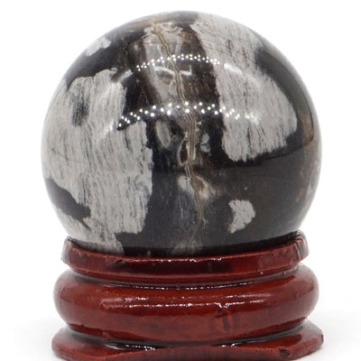 30mm Natural Stone Sphere with Base
