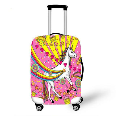 "3D Printed Unicorn Luggage Cover 18"" to 28"""