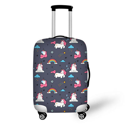 "3D Printed Unicorn Luggage Cover 18"" to 30"""