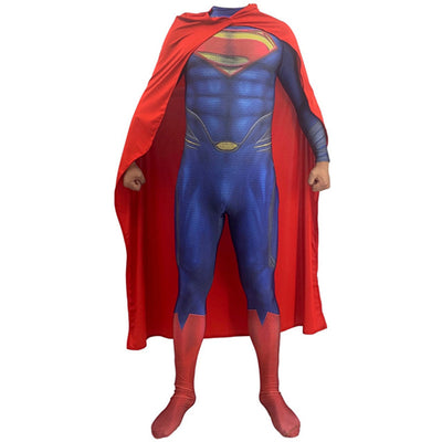 Superman Justice League Cosplay Bodysuit Costume for Kids and Adults