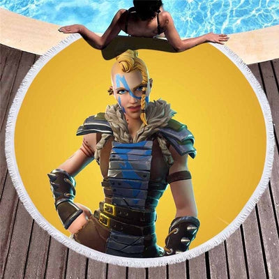 Huntress Skin Battle Royale Round Beach Towel Mat