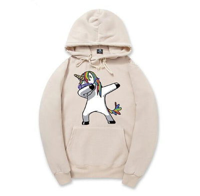 Dabbing Unicorn Hooded Sweatshirt for Men