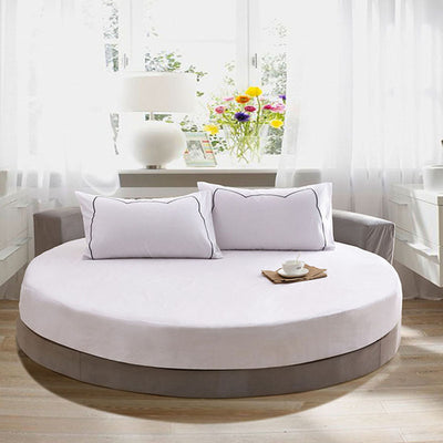 Pure Cotton Round  Bed Fitted Sheet