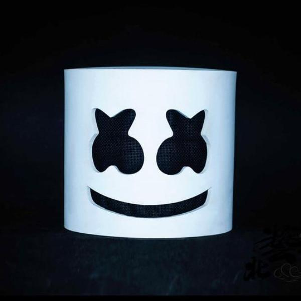Dj Marshmello Face Mask Helmet with and without LED
