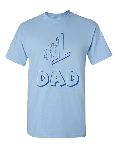 358fc531db #1 Dad Best Father Gift Funny Adult T-Shirt Tee