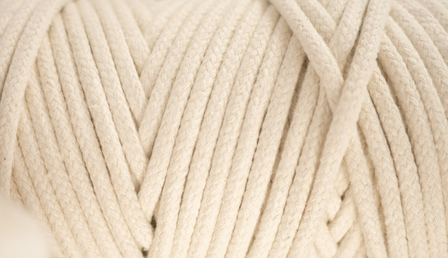 Braided cotton rope