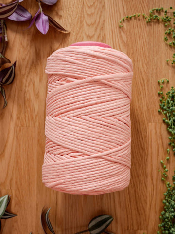 5mm Apricot peach cotton string, 1 kg