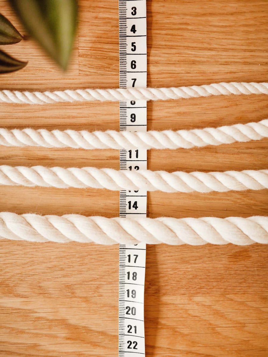 14mm natural cotton rope, by the meter