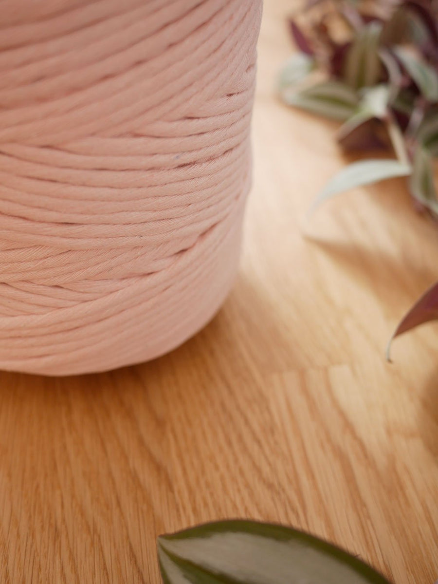 5mm Linen pink cotton string, 1 kg