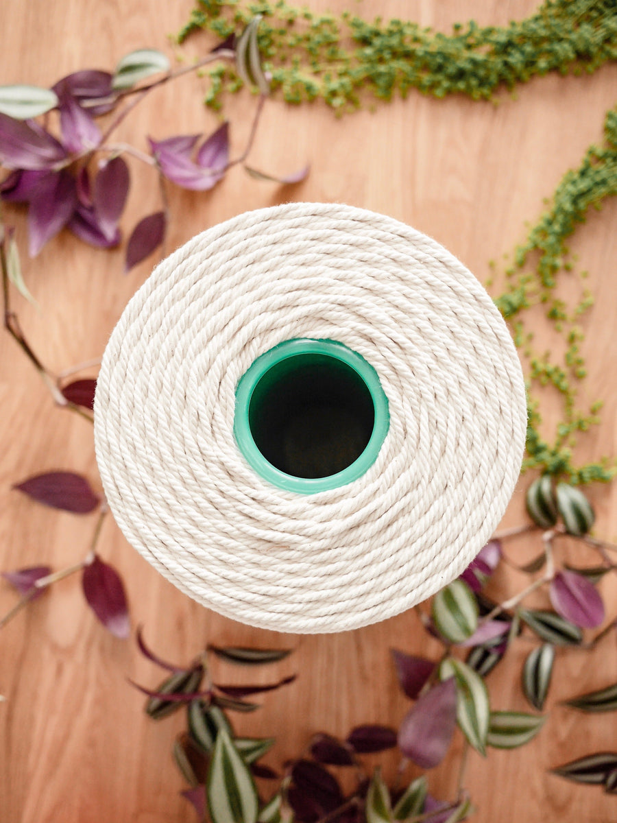 4mm Natural cotton rope, 5kg