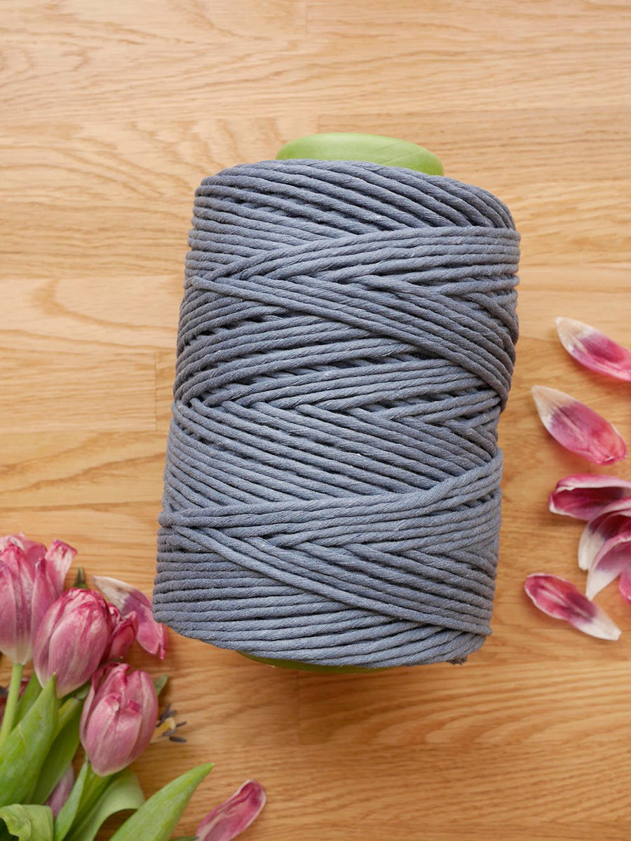 5mm Fiord Blue cotton string, 1 kg