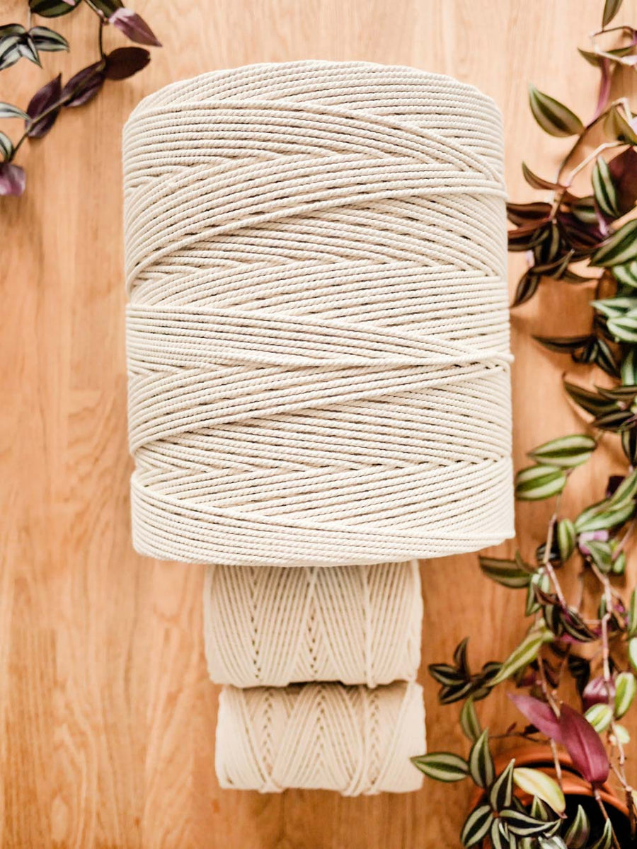 4mm Natural cotton rope, 11.2kg