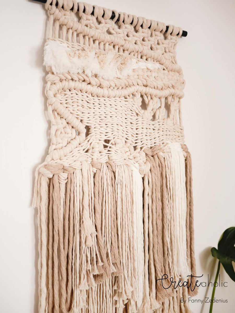 Macramé wallhanging, no. 3 of