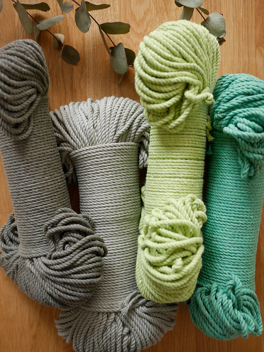 4mm Emerald Green cotton rope, 100 meters