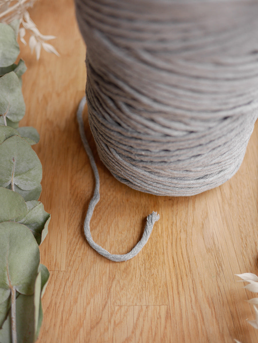 Dark Grey cotton string, 1 kg