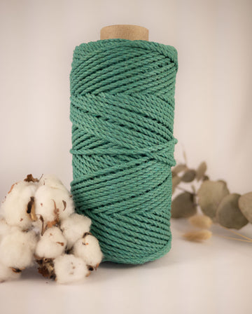 4mm Emerald Green cotton rope, 0.5kg
