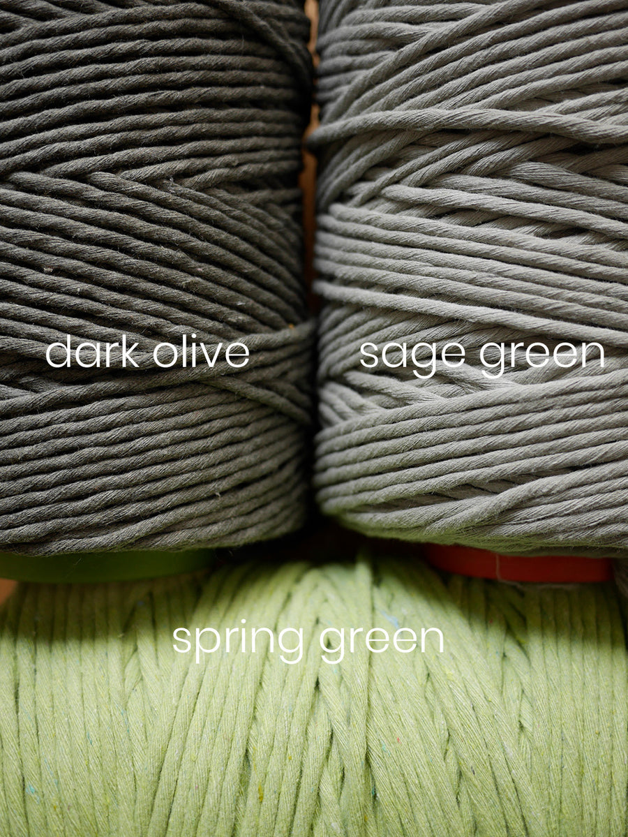 5mm Spring green cotton string, 1 kg