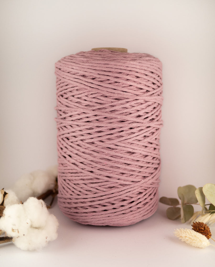 Mauve Rose cotton string, 1 kg