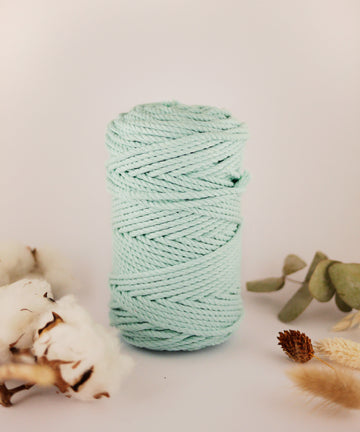 4mm Mint cotton rope, 0.5kg