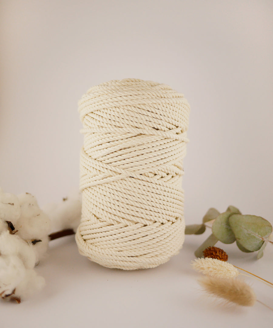 4mm Natural cotton rope 0.5kg