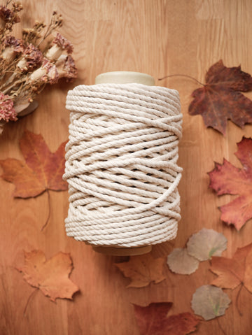 Natural cotton rope, 6 mm, 1kg