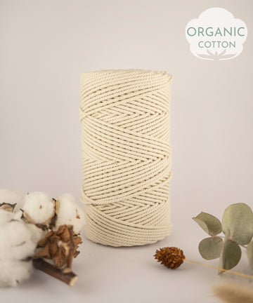 Organic cotton rope, 2.5 mm, 0.5kg