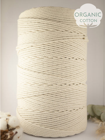 4mm Organic cotton rope, 5kg
