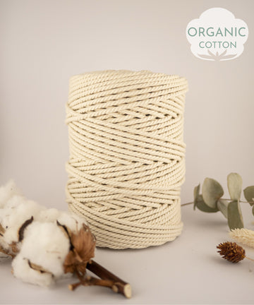 Organic cotton rope, 4 mm, 1kg