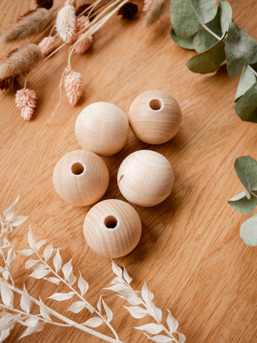 Wooden beads, large