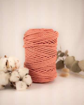 4mm Strawberry 'n' Cream cotton rope, 0.5kg