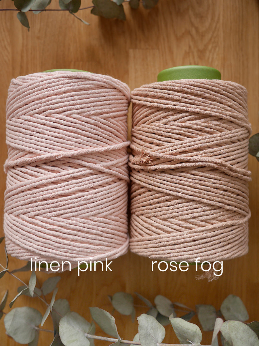 Linen pink cotton string, 1 kg