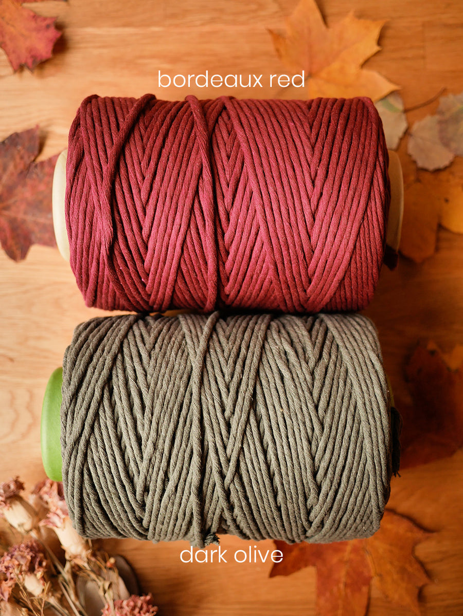 5mm Bordeaux cotton string, 1 kg