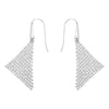 Fit Pierced Earrings, White, Rhodium plated