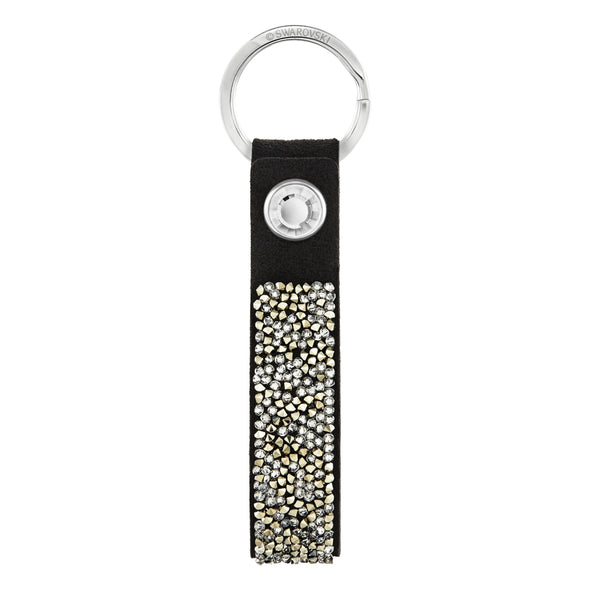 Glam Rock Key Ring, Black, Stainless Steel