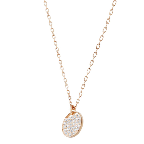 Ginger Pendant, White, Rose-gold tone plated