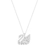 Swan Lake Pendant, White, Rhodium plated