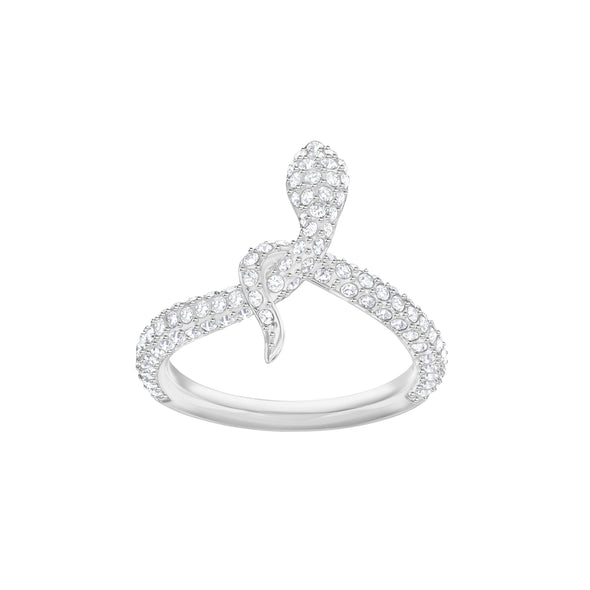 Leslie Ring, White, Rhodium plated