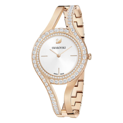 Eternal Watch, Metal bracelet, White, Rose-gold tone PVD