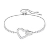 Lovely Bracelet, White, Rhodium plated